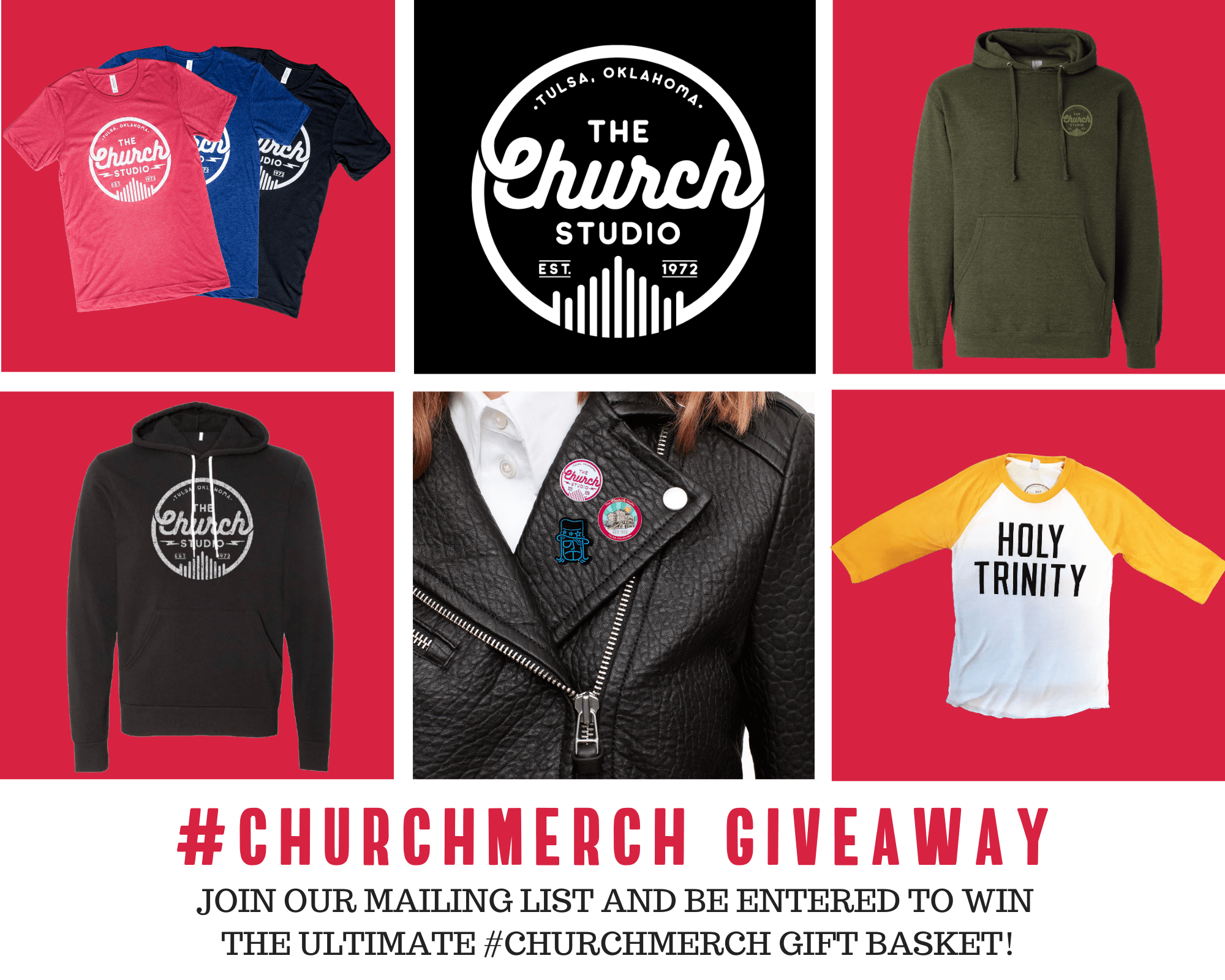Copy of Join our mailing list and be entered to win FREE #churchmerch
